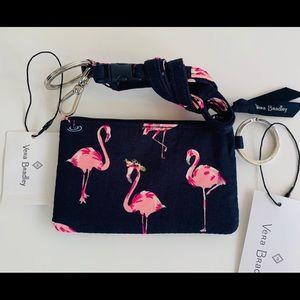 Vera Bradley Zip ID & Breakaway Lanyard Flamingo